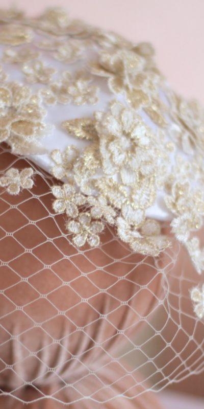 Casquete com Voilette para Noiva por Elizabete Munzlinger MR04